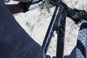 adjusting the BMX bike handlebar