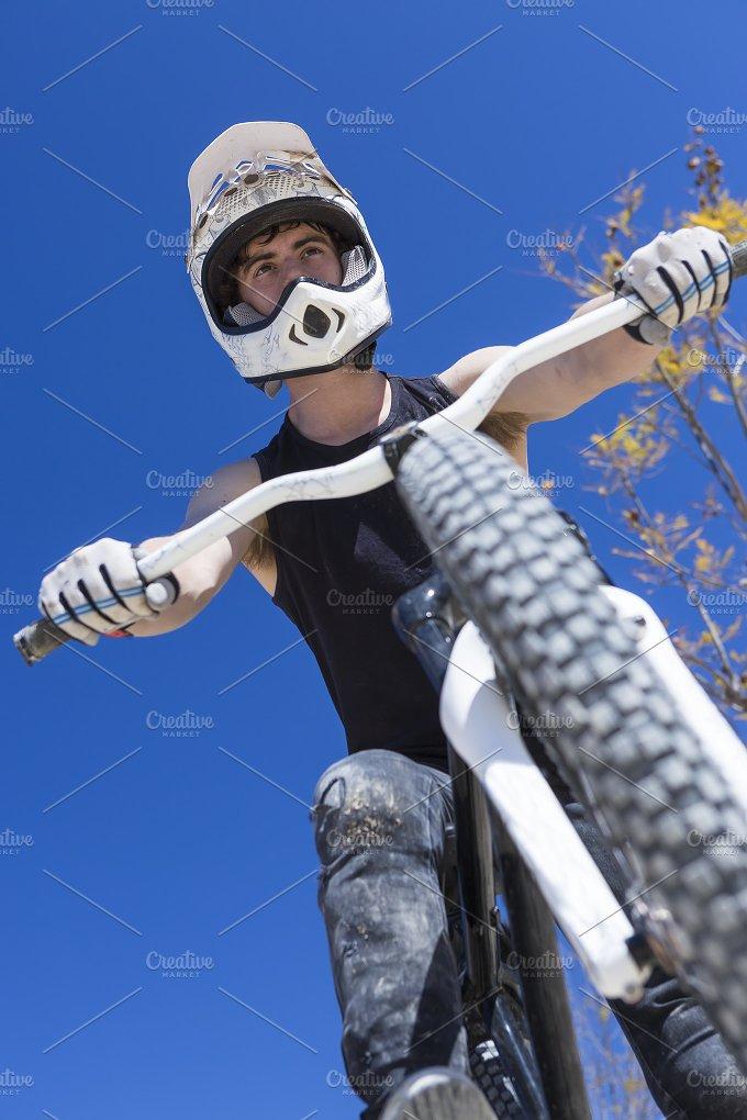 BMX cyclist and his bike.jpg - Sports