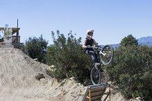 BMX cyclist jumping
