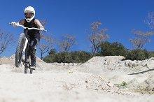 BMX cyclist on a circuit