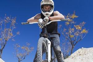 BMX cyclist portrait
