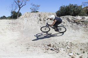 BMX rider on a circuit