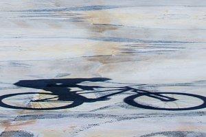 BMX rider shadow background