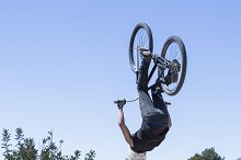 jumping with BMX bike