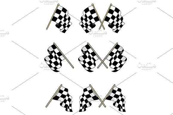 Checkered flags set in Graphics