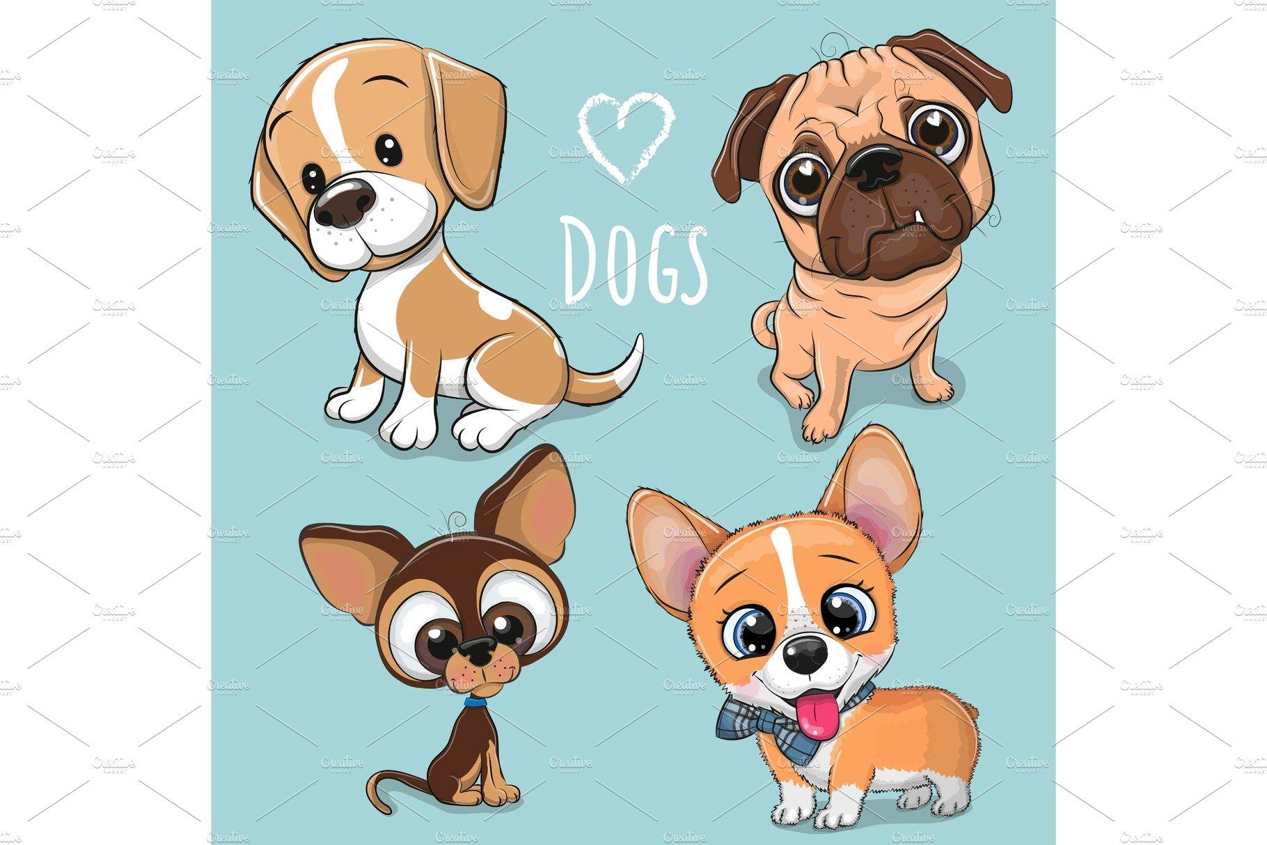 Cute Cartoon Dogs | Custom-Designed Illustrations ...