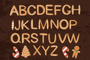 Christmas cookies alphabet