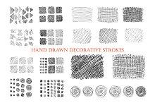 Hand drawn ink decorative strokes.