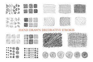 Hand drawn ink decorative strokes.