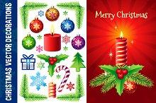 Christmas Vector Decorations Set