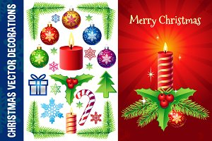 Christmas Vector Decorations Set