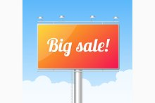 Billboard. Big Sale Concept. Vector
