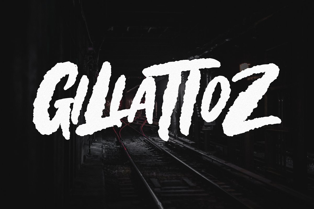 Gillattoz in Display Fonts - product preview 8