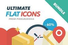 Ultimate Flat Icons Bundle (-60%)