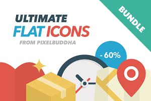 Ultimate Flat Icons Bundle (-60%)