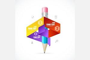 Creative paper infographics. Vector