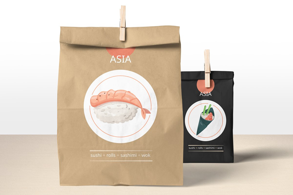 Flat Design Food Icons Collection in Japanese Icons - product preview 5