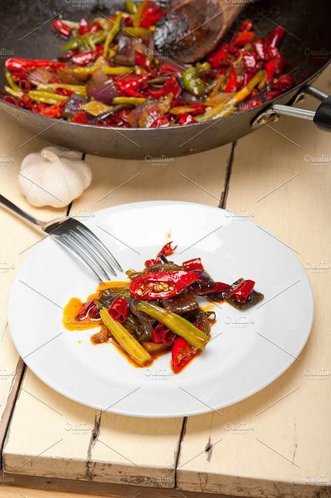 fried chili pepper and vegetables 006.jpg - Food & Drink