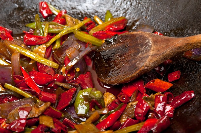 fried chili pepper and vegetables 014.jpg - Food & Drink
