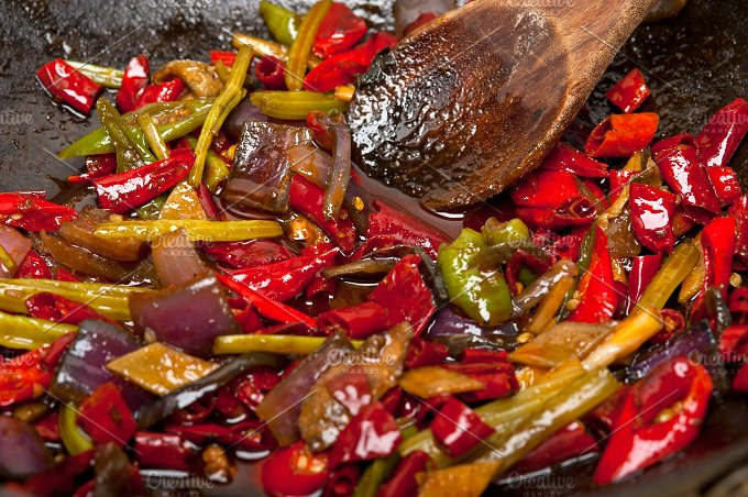 fried chili pepper and vegetables 015.jpg - Food & Drink