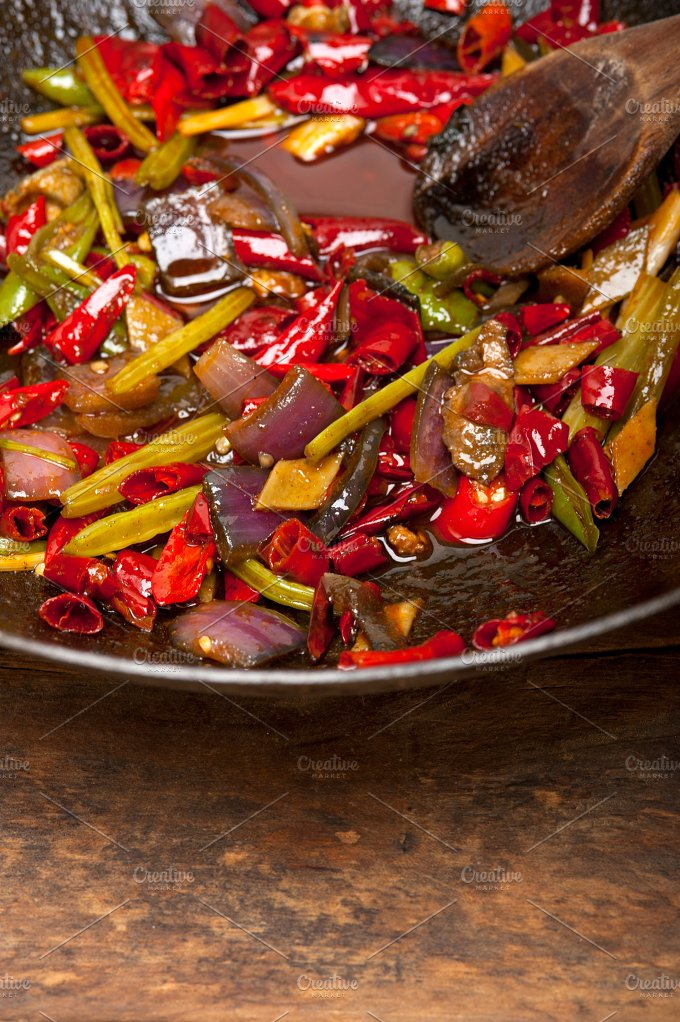 fried chili pepper and vegetables 019.jpg - Food & Drink
