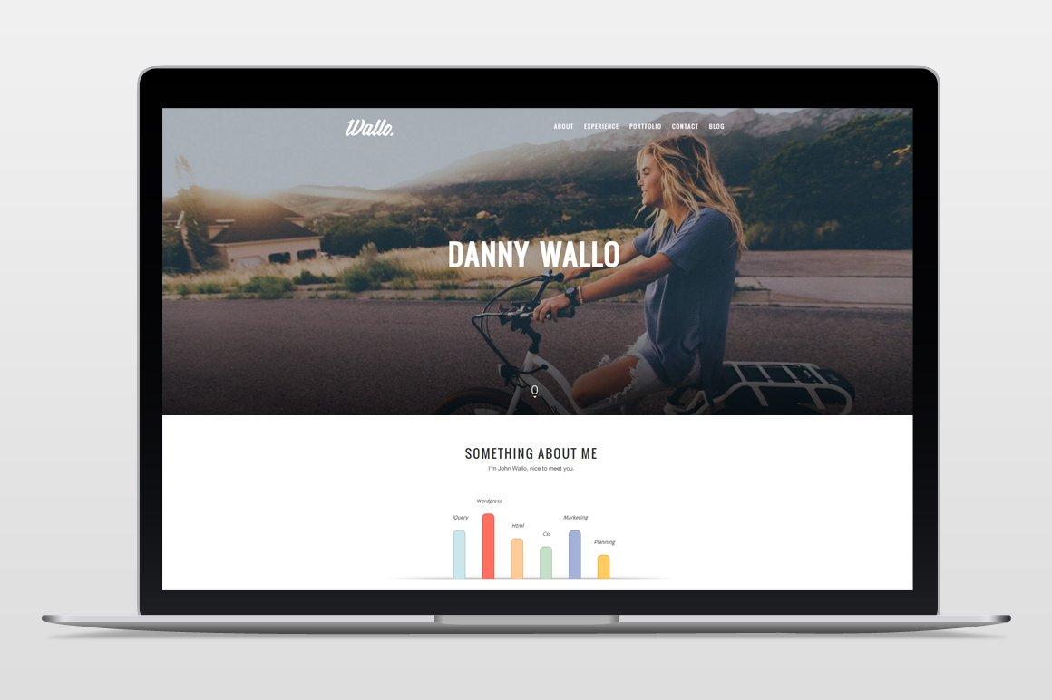 Wallo - Onepage Wordpress Theme ~ WordPress Portfolio Themes ...