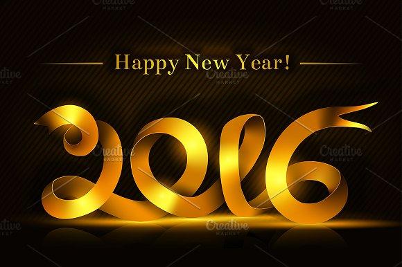 Happy New 2016 Year .vector