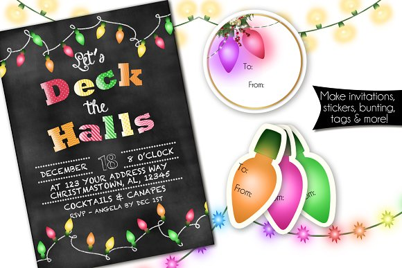 Christmas Lights in Illustrations - product preview 1