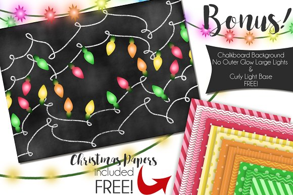 Christmas Lights in Illustrations - product preview 2