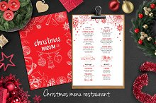 Food menu, restaurant flyer #14