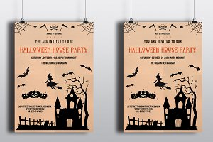 Halloween Party flyer template-V95