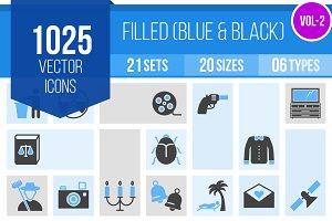 1025 Filled Blue & Black Icons (V2)