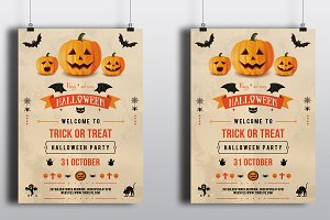 Halloween flyer template-V96