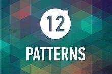 12 geometric triangle patterns