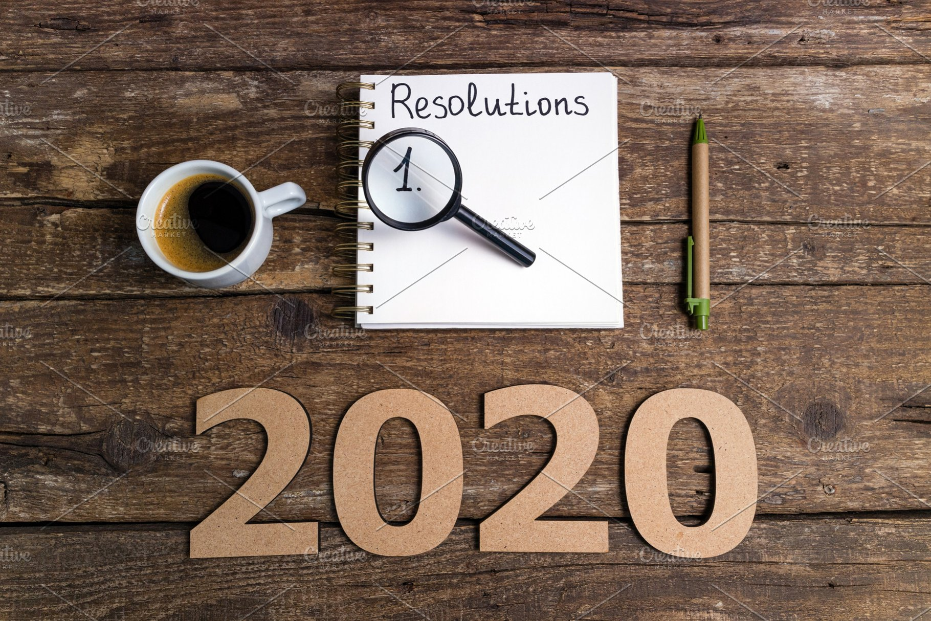 New Years Resolution 2020.New Year Resolutions 2020 On Desk