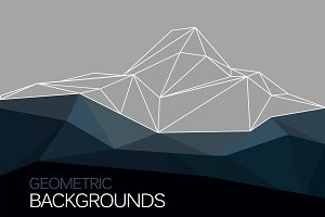 Vector polygonal mountain