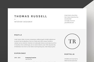 Thomas Russell - Resume/CV Template