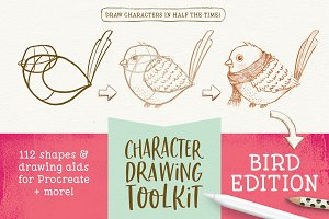 Procreate Bird Drawing Toolkit