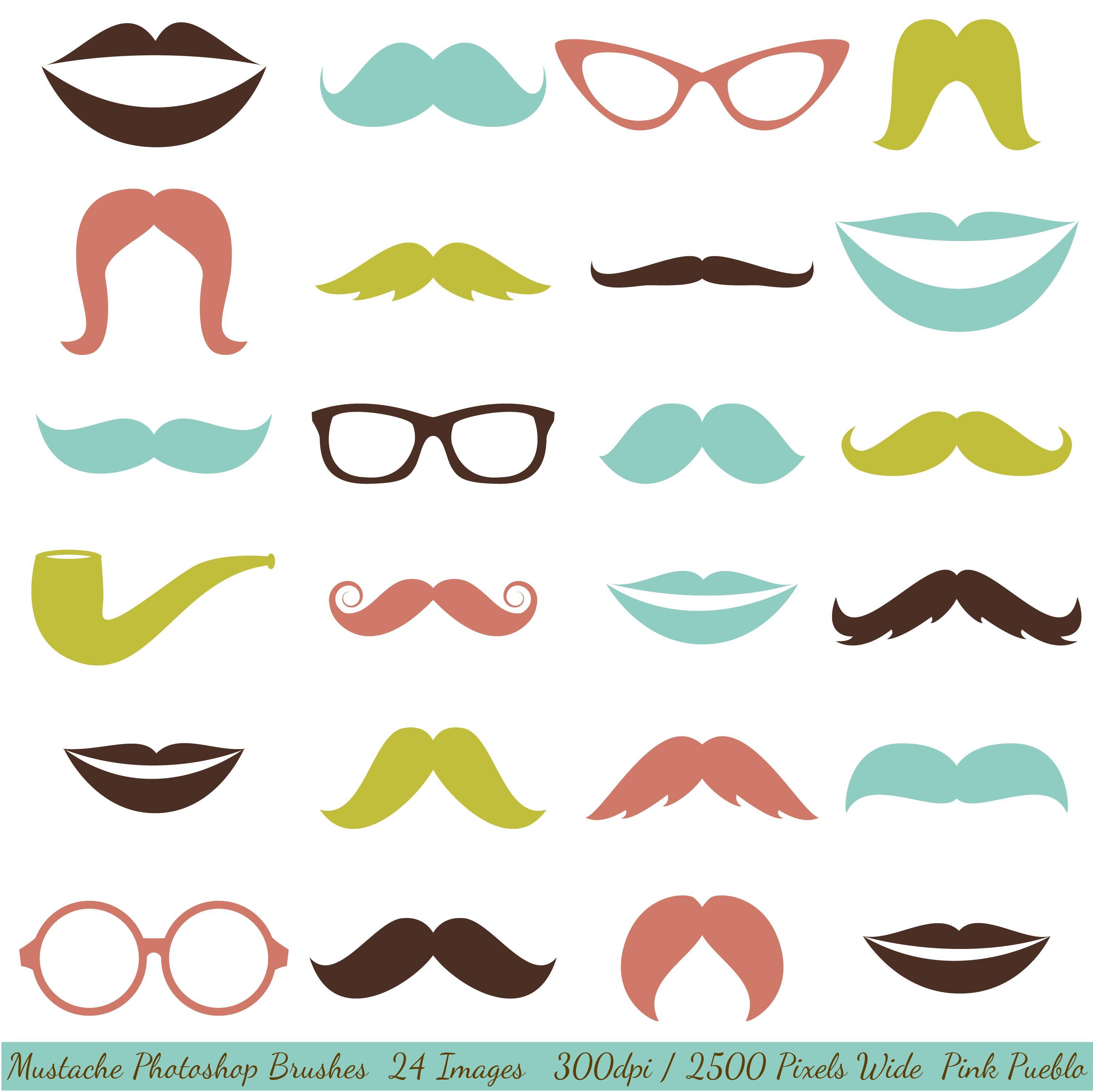mustaches and lips photoshop brushes brushes creative market