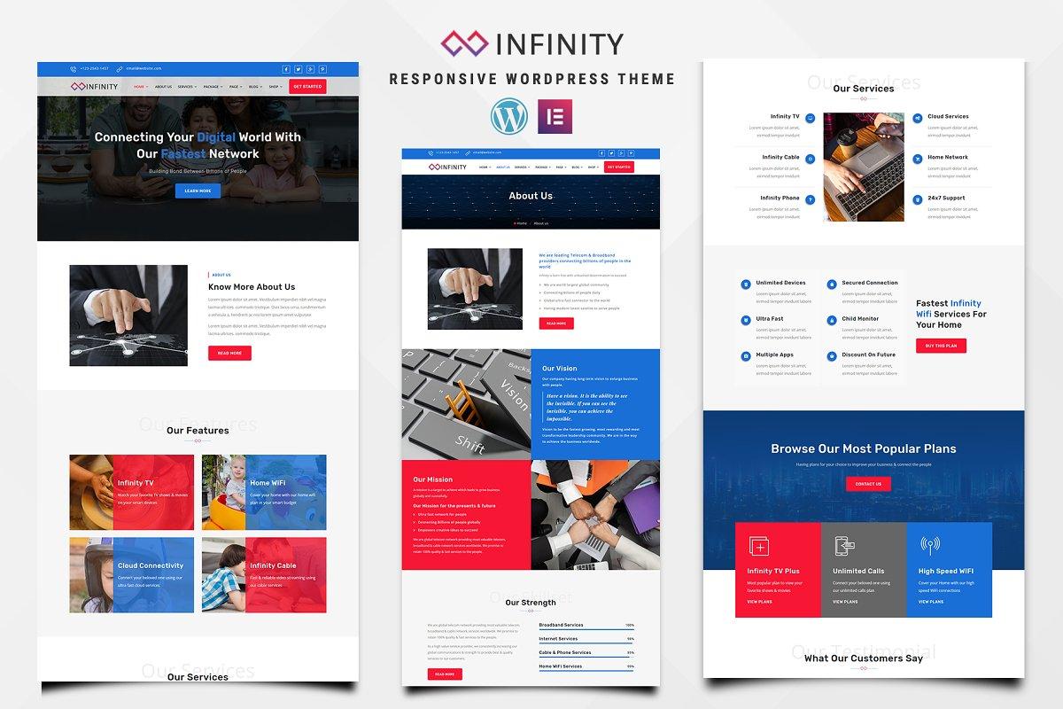 Infinity – Telecom WordPress Theme