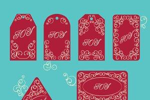 Elegant victorian swirl gift's tag