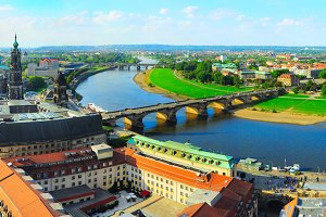Panoramic view of Dresden,Germany