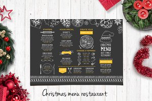 Food menu, restaurant flyer #15