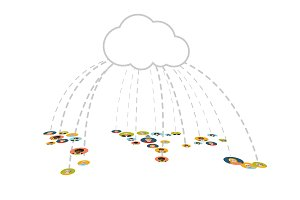 People connected In Cloud