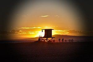 A Lifeguard Stand, Sunset Beach, CA