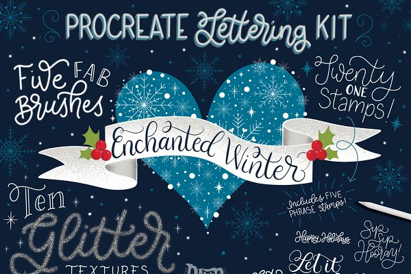 Enchanted Winter Procreate Lettering