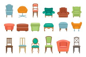 Chairs vector illustration