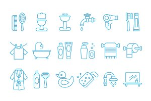 Hygiene of linear icons