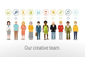 Our creative team of ten people