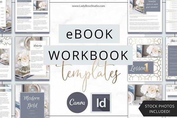 eBook Template Canva | InDesign Gold